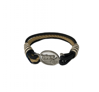 Breeze Black & Beige Rope Bracelet