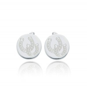 Breeze Horse Shoe Stud Earrings