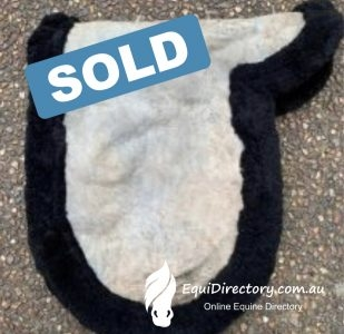 "SOLD - Black Sheepskin Numnah - Suits 17"" Dressage"